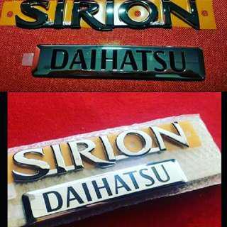 Emblem Daihatsu n Sirion