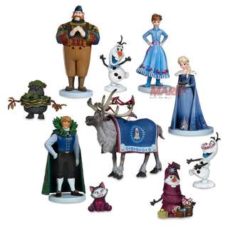 Disney Frozen Deluxe figures 10 pcs Toy set collectibles/ Cake Toppers for your themed children party