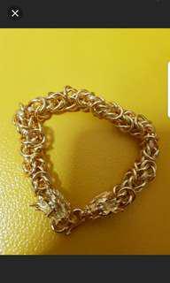 Gold Plated Dragon Bracelet