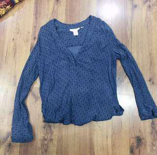H&M Navy Blue Top