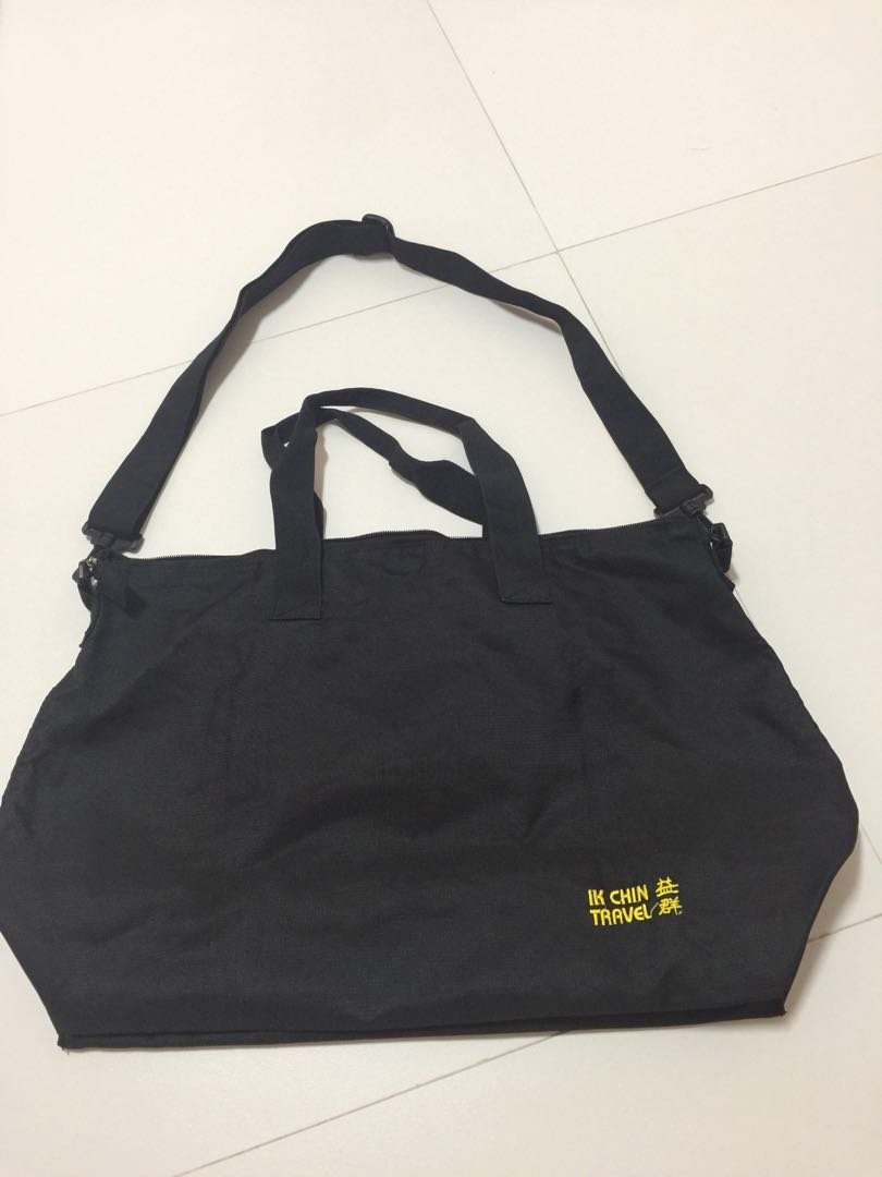 4 bn Black Travel weekender Gym Duffle Bag foldable shopping grocery,  Women s Fashion, Bags   Wallets, Others on Carousell 4840c87a0e