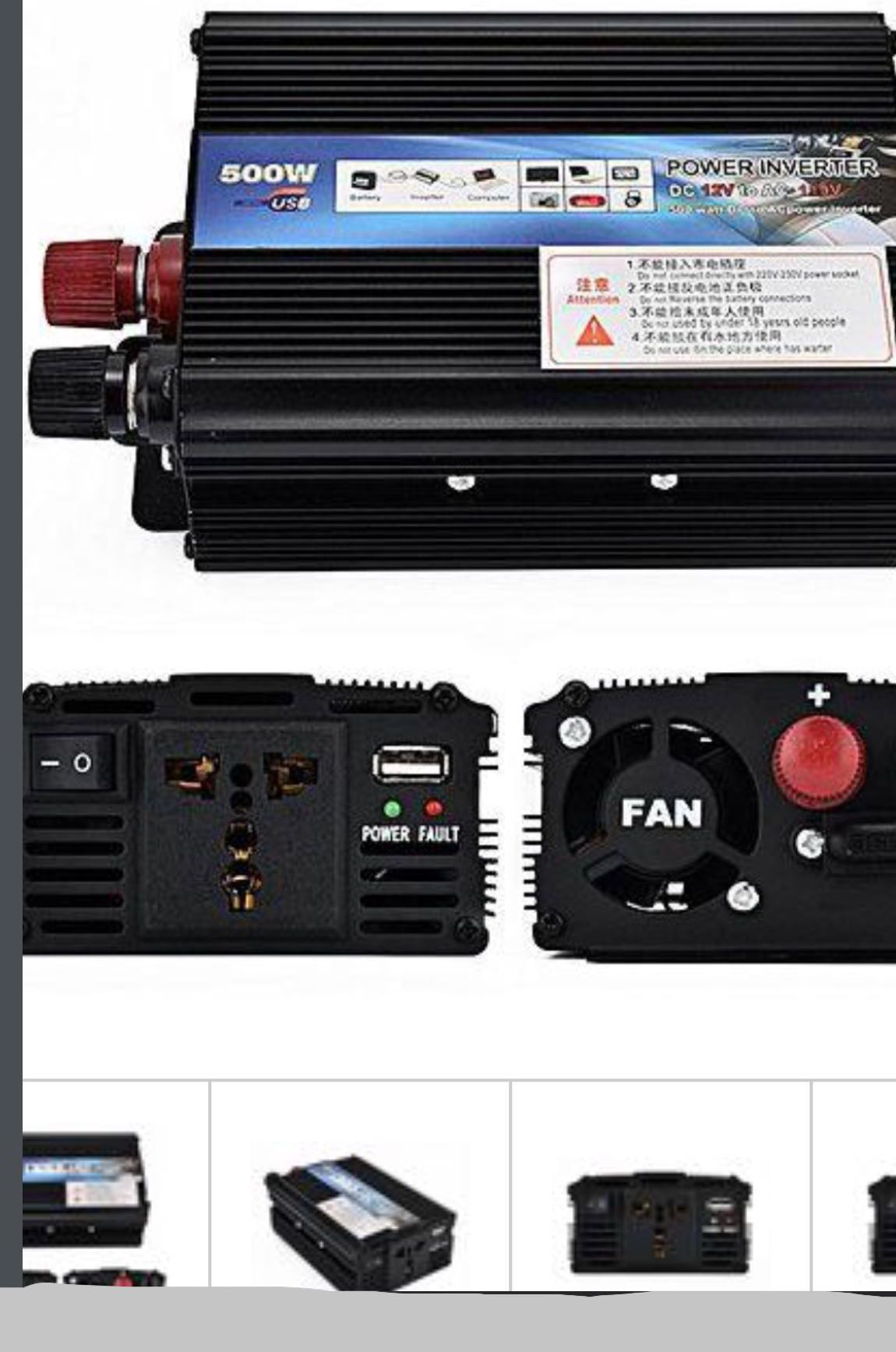 500w Peak Modified Sine Wave Power Inverter Dc 12v To Ac 220v Car How Make A Simple 200 Watt Circuit Converter 2018 New Electronics Others On Carousell