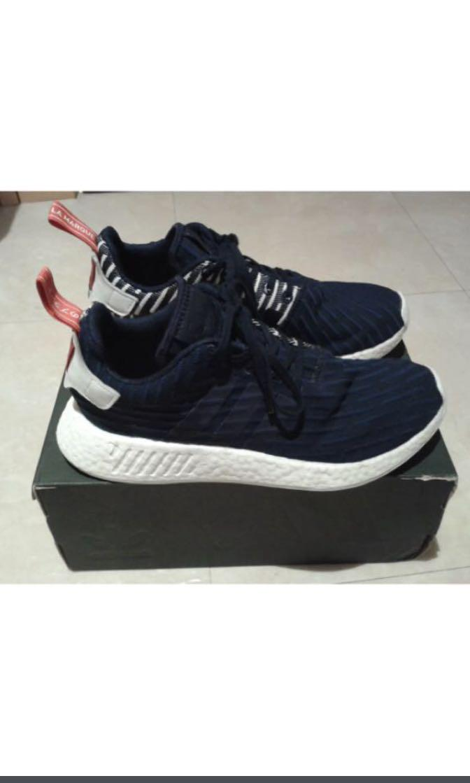 super popular 4301d 0dfd2 Adidas NMD R2 PK navy BB2952 UK 8/US 8.5, Men's Fashion ...