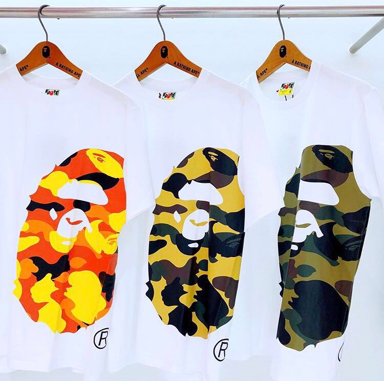 35af275e BAPE 1ST CAMO SIDE BIG APE HEAD TEE, Men's Fashion, Clothes, Tops on ...