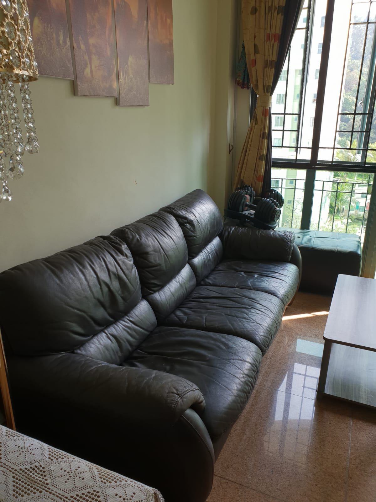 Phenomenal Black Leather Sofa 3 Seater Ottoman Spiritservingveterans Wood Chair Design Ideas Spiritservingveteransorg