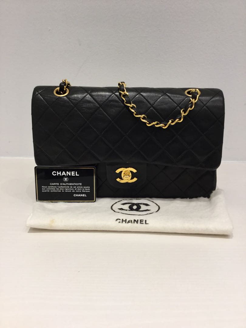 2f7b4c108d3ef9 Chanel 2.55 Classic Lambskin Double Flap GHW, Women's Fashion, Bags ...