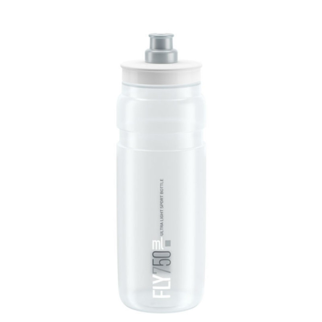 Elite Fly Cycling Bottle 750ml - Clear with Grey Logo