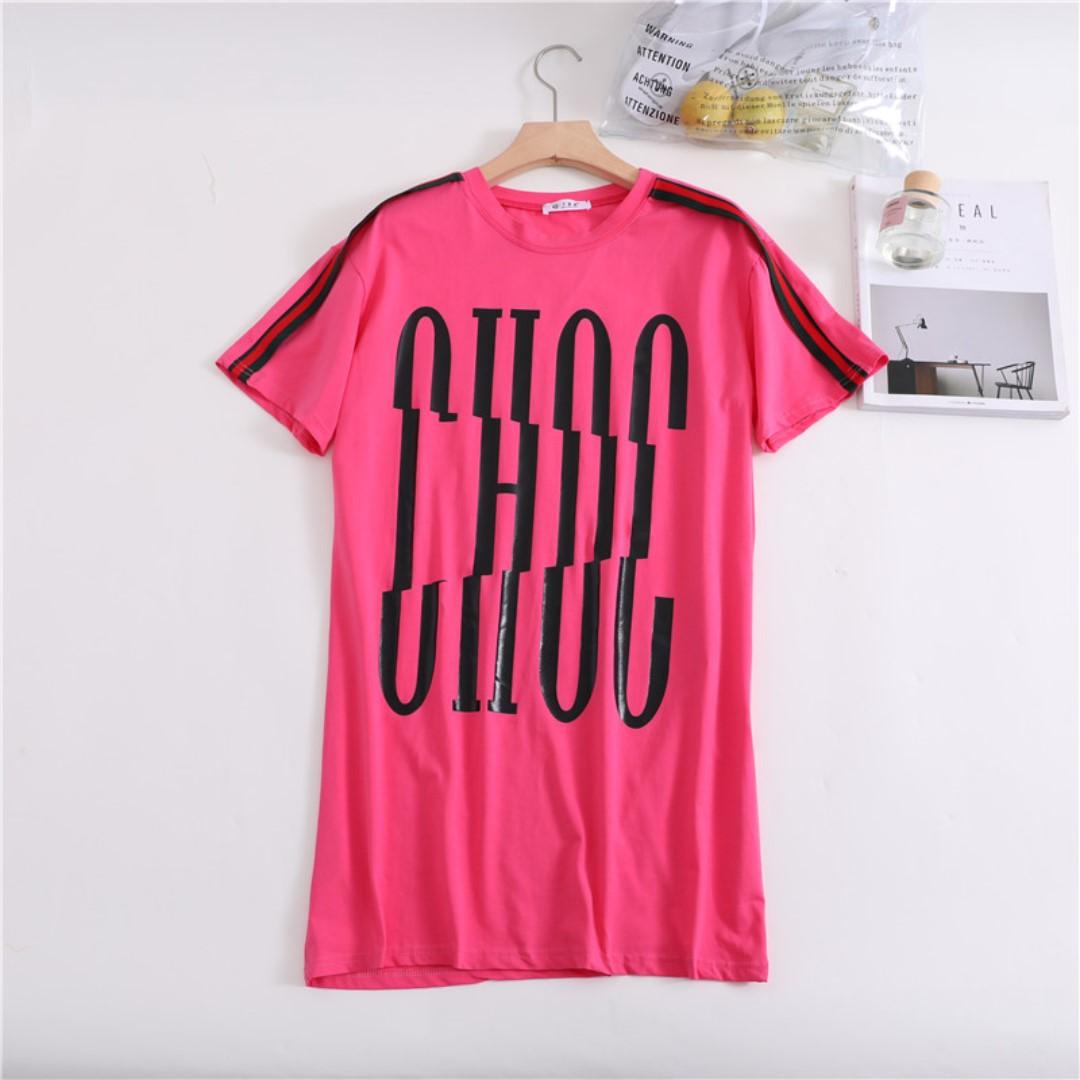 42cffacf2 Hot Pink Choc T Shirt Dress Overszied Plus Size, Women's Fashion ...