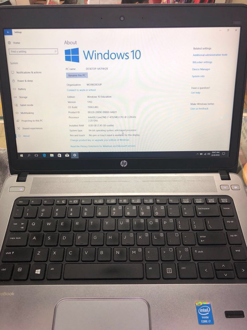 Hp probook va7hh28 (price drop from $580)
