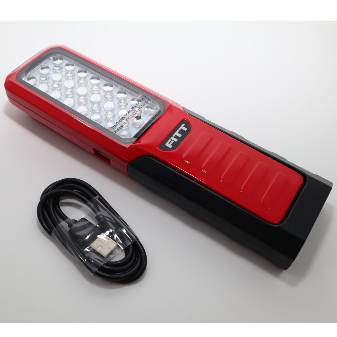 LED Rechargeable Torch Light / Flash Light with Power Bank