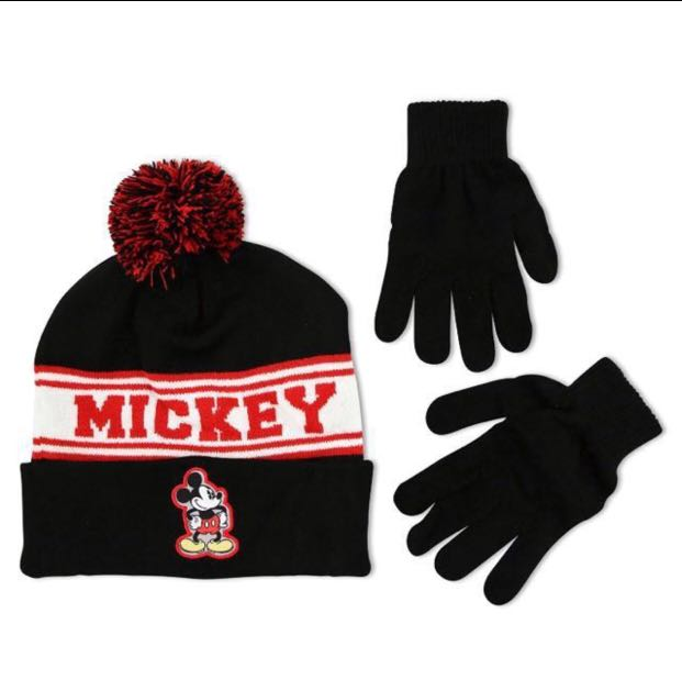 10e788800 Mickey Mouse Winter Hat & Glove Set