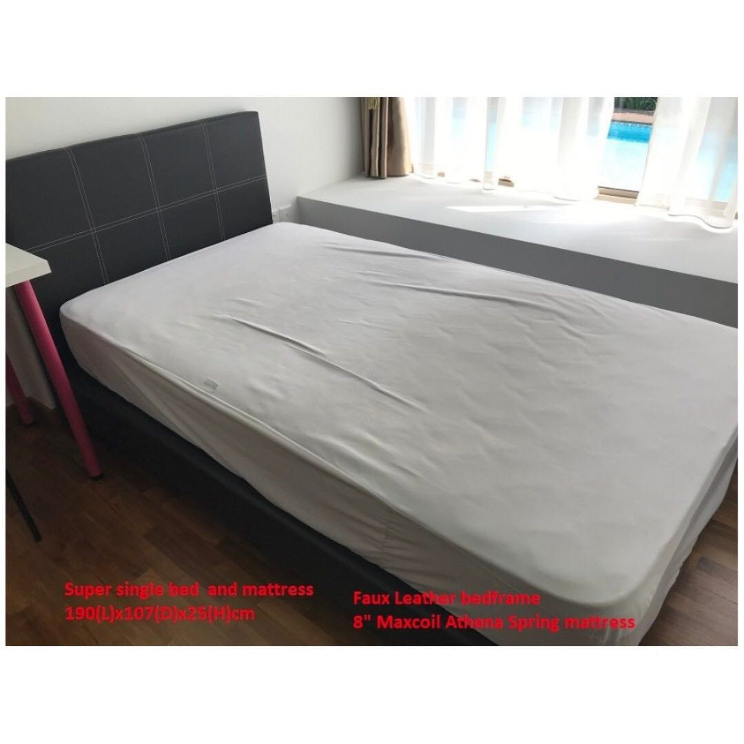 Moving Out Sales Super Single Bed And Mattress Furniture Beds