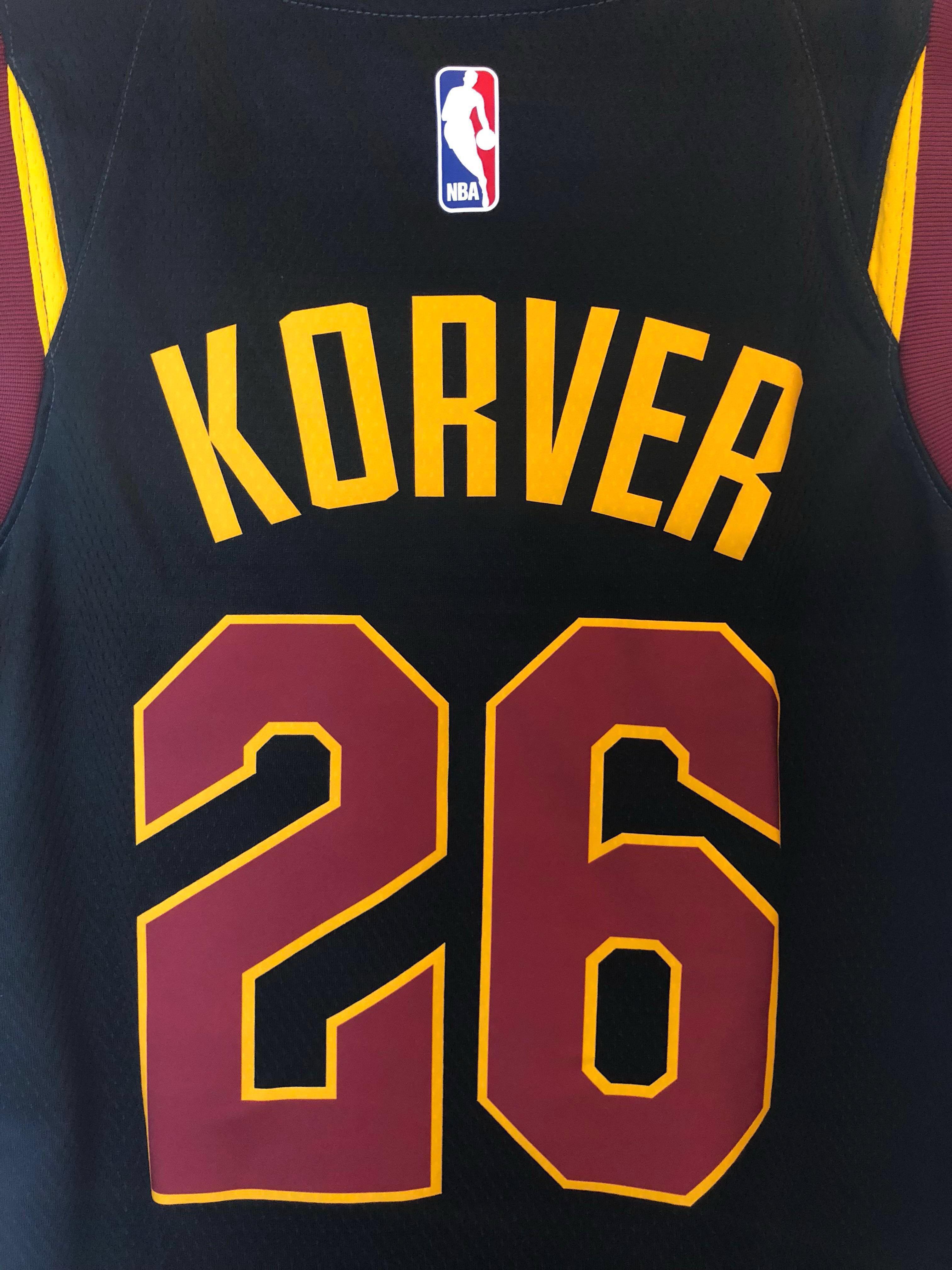 "95856ebc388 NBA 克利夫蘭騎士Cleveland Cavaliers 高華Kyle Korver Nike ""City Edition"" Swingman  Jersey BNWT"