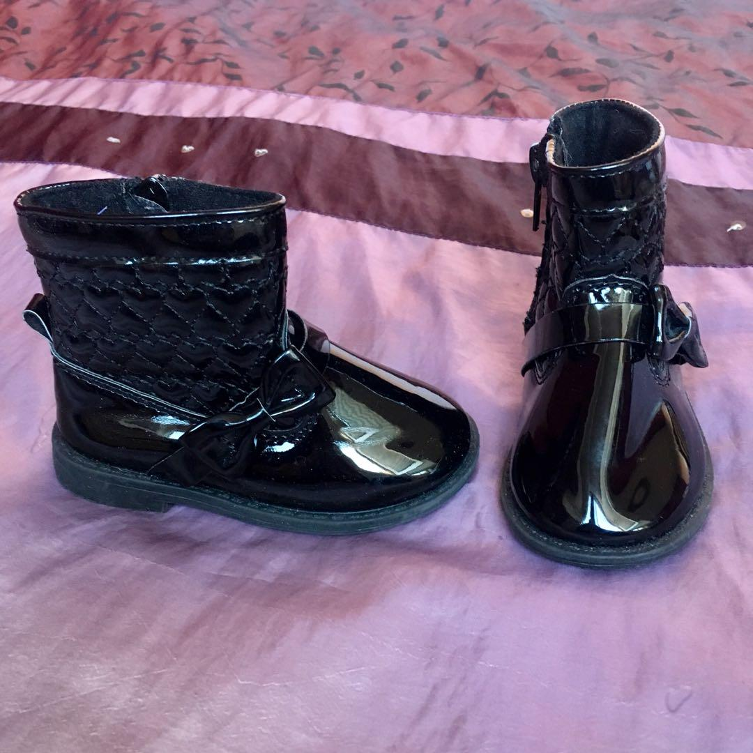 Patent Leather Boots - Size 4 - Brand New Condition