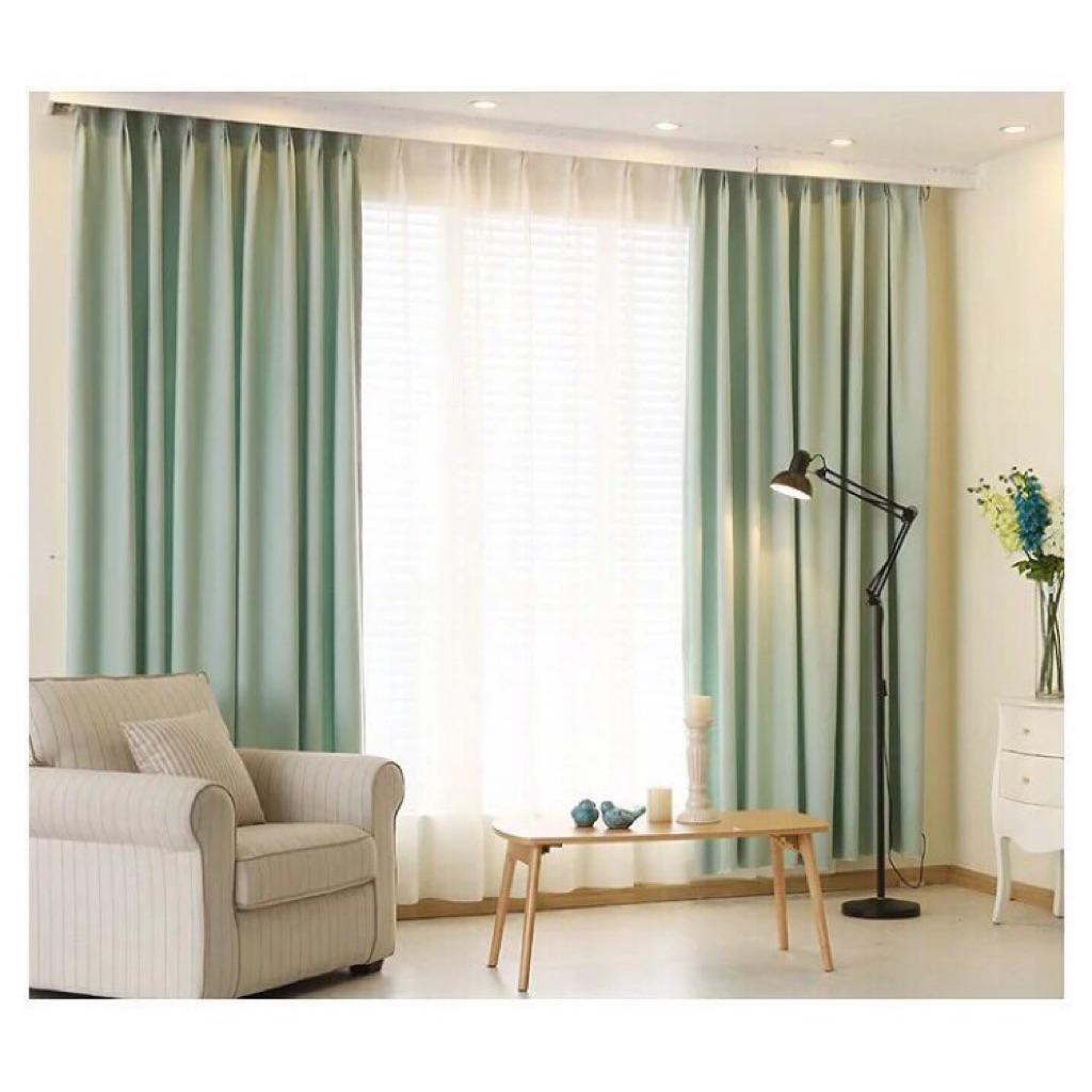 Plain Linen Blackout Curtain For Living Room Bedroom Window Curtains Blackout Furniture Others On Carousell