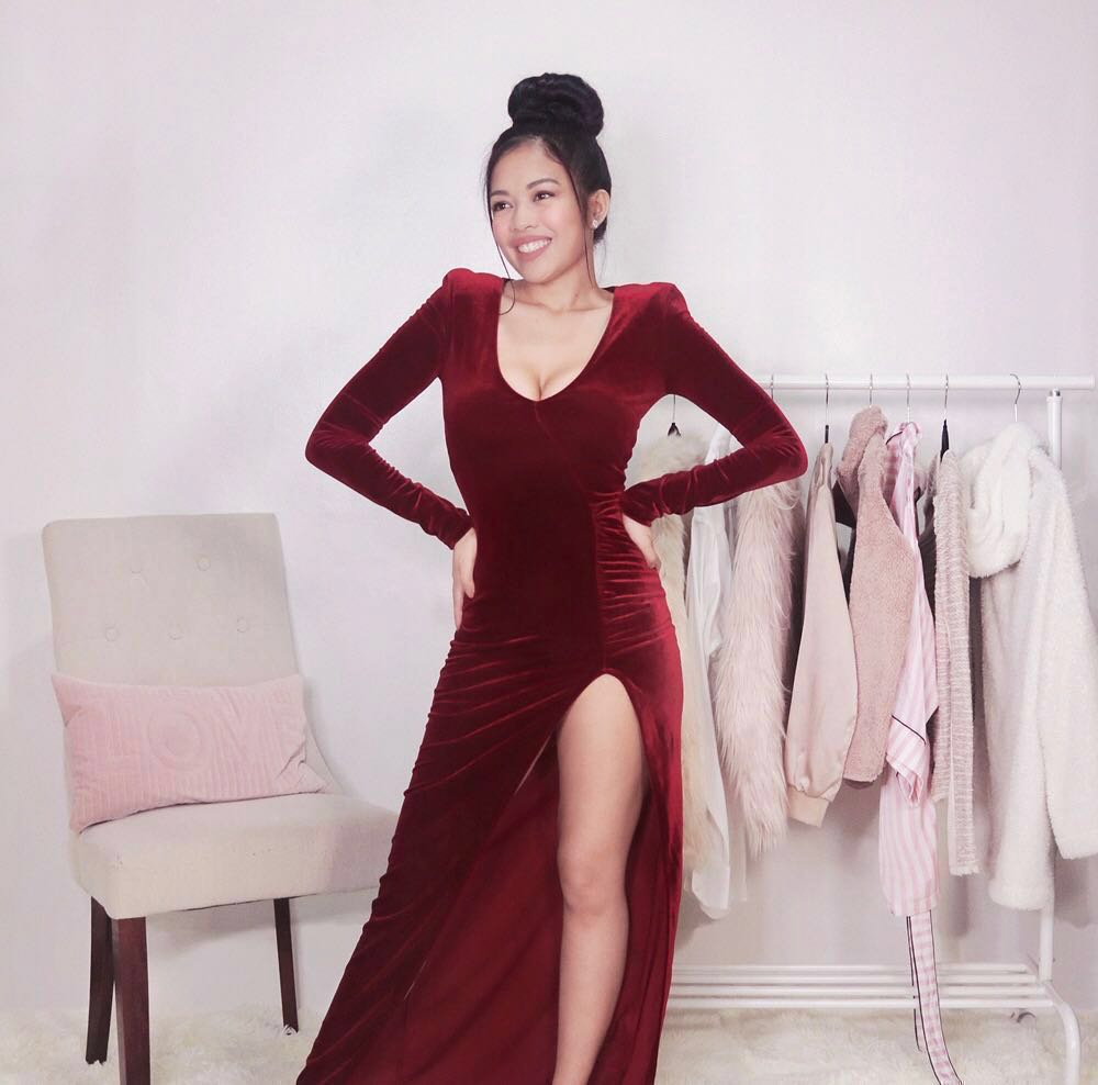 38a90273dff3a PRE ORDER — Red Velvet Dress • Fashion Nova Love Sex Magic Formal / Evening  Gown Wine • Prom Ball Maxi Dress • on hand, Women's Fashion, Clothes,  Dresses ...