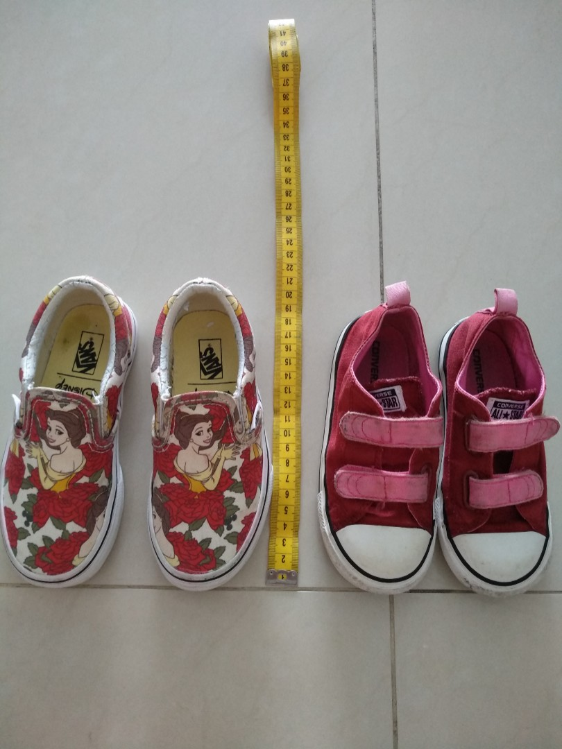 ade2a6a009 Preloved Vans Converse toddler shoes
