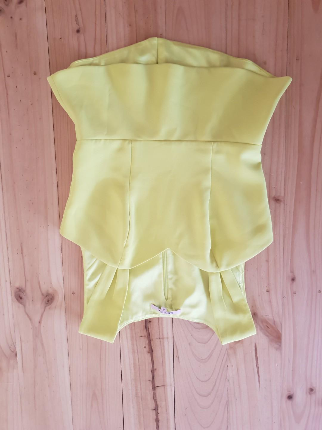 Review size 10 yellow top