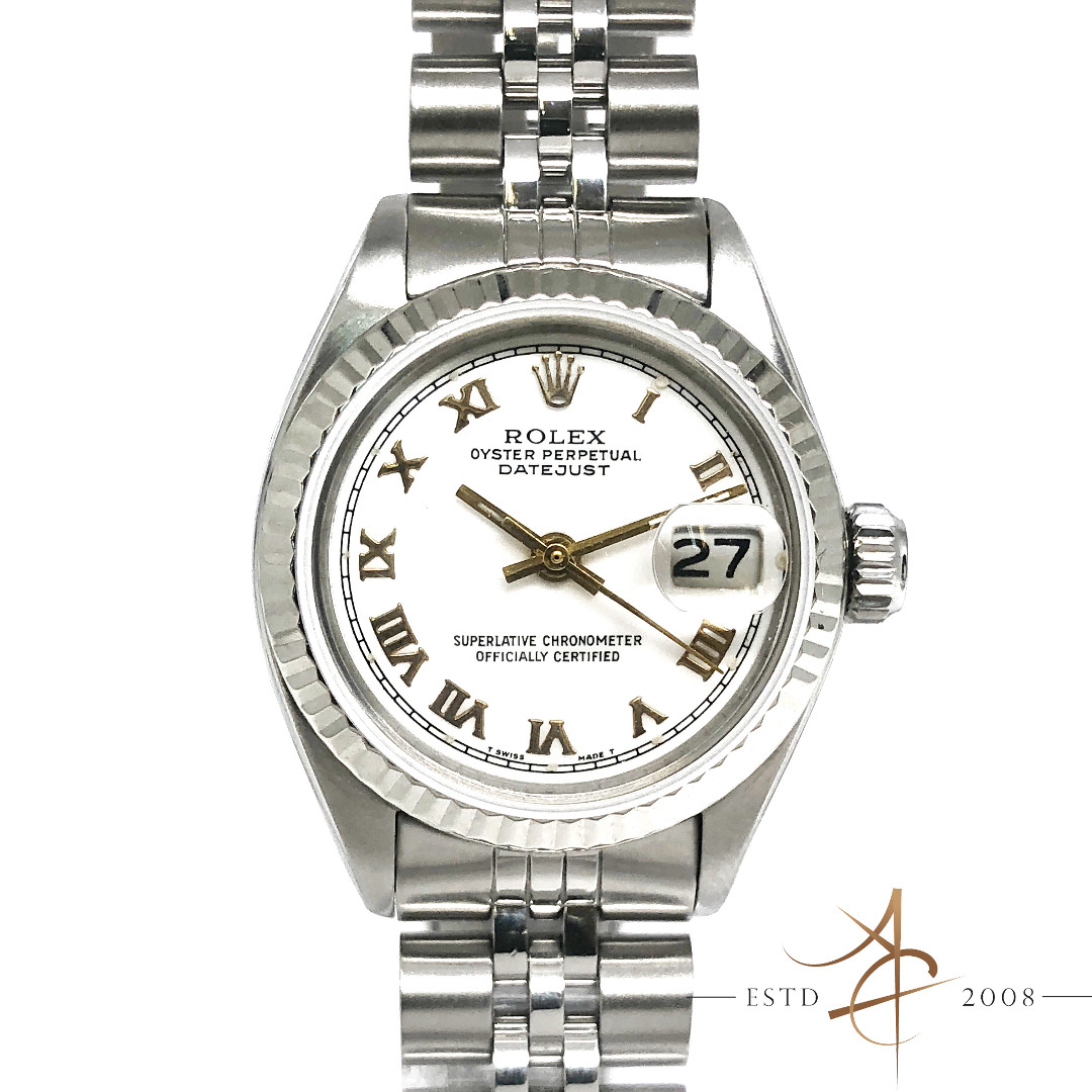 510d7f3812f Rolex Ladies Datejust Ref 6917 Roman Dial Automatic Vintage Watch ...