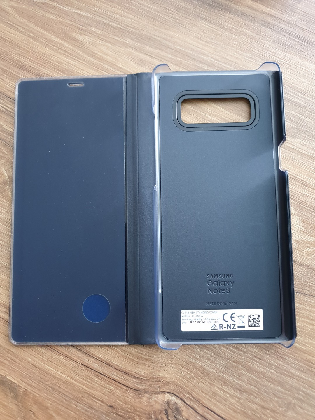 new product 06414 751e5 SAMSUNG GALAXY NOTE 8 CLEAR VIEW STANDING COVER