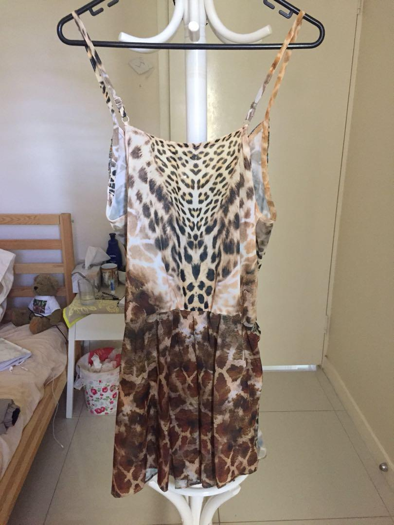 S&H romper / Jumpsuit 8 / S NEW // Leo Print // Beginning Boutique// Princess Polly // Glue Store // Melrose Ave