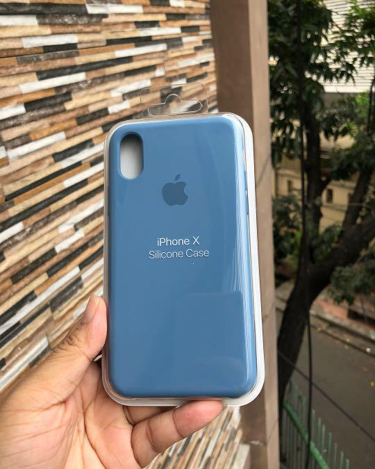 reputable site e7094 b5353 silicone case apple DENIM BLUE, Mobile Phones & Tablets on Carousell