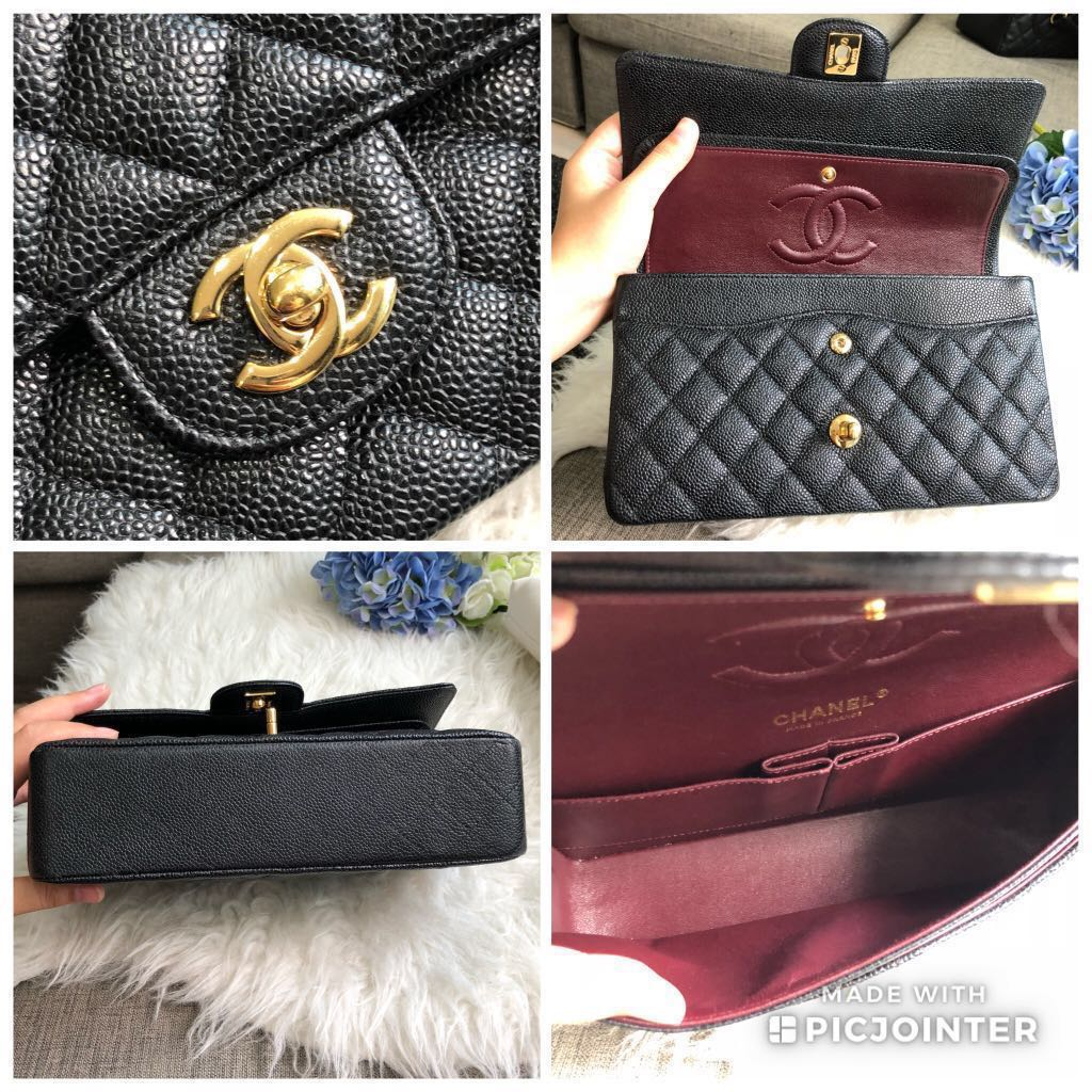 1ac7692bdb7b ❌SOLD!❌ Super popular and highly sought after!🌈 Full Set LOCAL RECEIPT. Chanel  Medium Classic Flap in Black Caviar GHW, Luxury, Bags & Wallets, ...