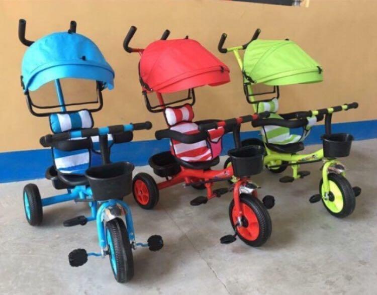 Stroller Bike Ride On Tricycle with Canopy Babies u0026 Kids Strollers Bags u0026 Carriers on Carousell & Stroller Bike Ride On Tricycle with Canopy Babies u0026 Kids Strollers ...