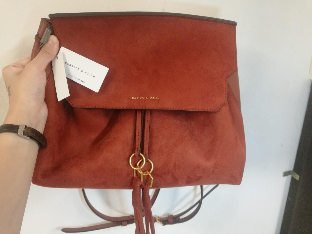5e2ff89d44e Tassel Detail Front Flap Backpack
