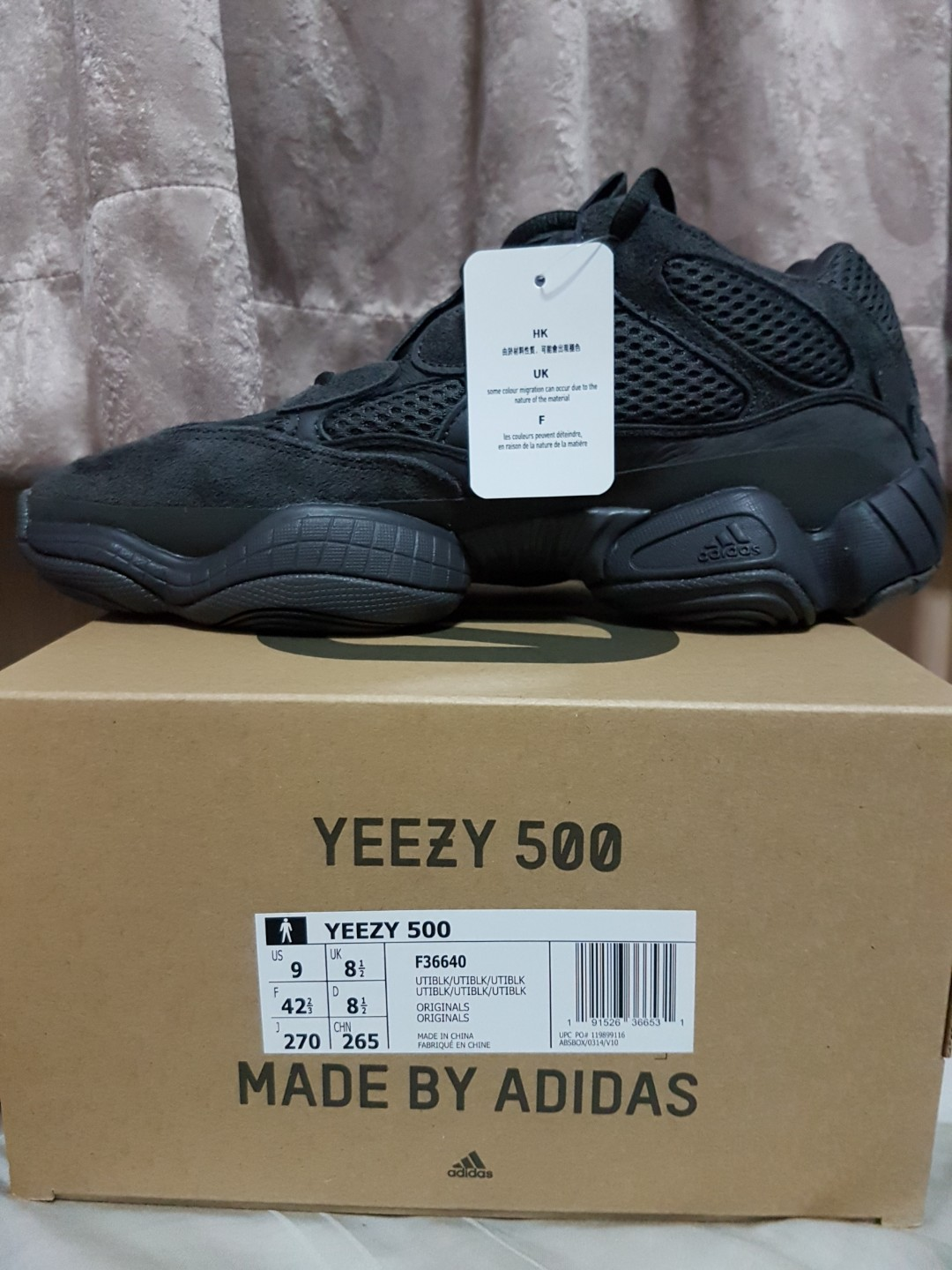 997256a9f1d Yeezy 500 Utility Black US9 UK8.5