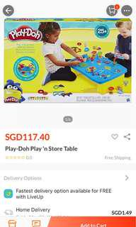 Brand New Playdoh Play n Store Table
