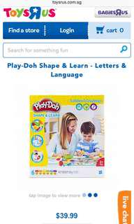 Brand New Playdoh Shape and Learn - Letters and Languages