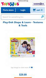 Brand New Playdoh Shape and Learn - textures and tools