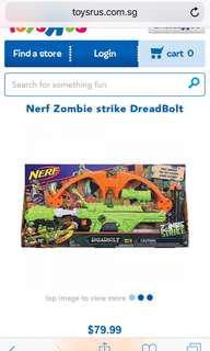 Brand New Nerf Zombie Strike Deadbolt