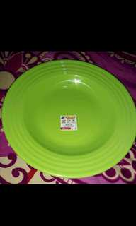 piring melamine ulir warna hijau 9 inch