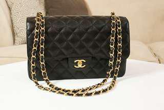 Chanel Cavier  Double flap Maxi with Gold Chain