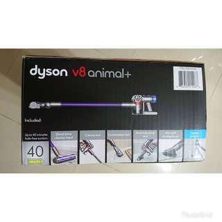 Dyson V8 Animal + Cordless Stick Vacuum直驅版無線手持吸塵器+全配5吸頭組
