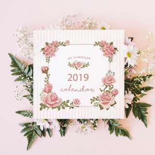🚚 2019 Calendar Flora Flower Plant Booklet