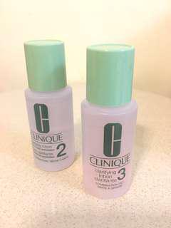 Clinique Clarifying Lotion 潔膚水 2 及 3 號 30ml 各$18