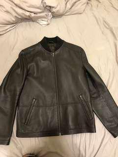 COUR CARRE 啡色皮褸 Leather Jacket 全羊皮