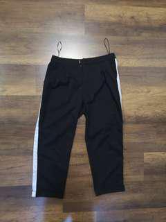 Black side stripe pants
