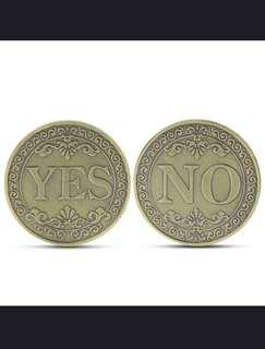 Collectible Coin Floral YES / NO Letter