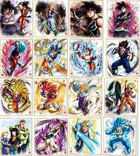 龍珠 色紙 shikishi art 6 完整 full set 共16張