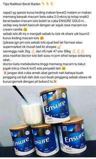 Susu Tambah Berat Badan (Ensure Gold 400g)