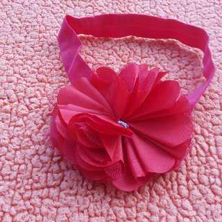 Headband bunga pink