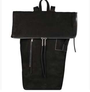 Rick Owens 2018 suede leather backpack