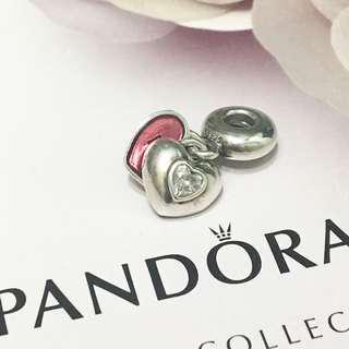 Pandora me & you heart charm