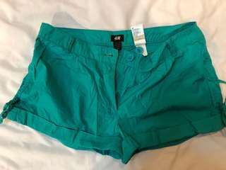 H&M Teal Shorts