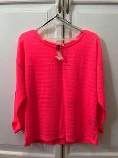 H&M Neon Pink Top