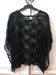 H&M Black Lace Cover Up